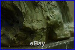 Fantastic Bronze Sculpture Two Flying Ducks Hand Made by Lost Wax Method Statue
