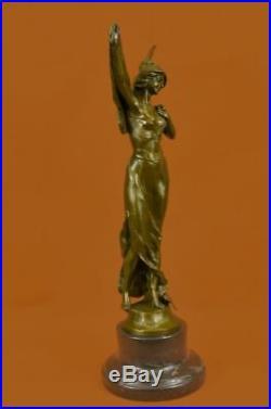 Figurine Figure European Design Heavens Angel Bronze Statue Hand Made Sculptur T