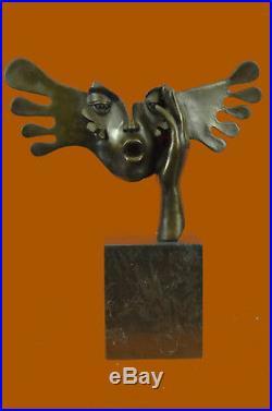 Fine Art Surreal bronze sculpture signed Salvador Dali Hand Made Figurine Statue