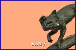 Fox Bronze on Prowl Garden Outdoor Lawn Statue Sculpture made by Lost Wax Method