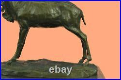 French Art Deco Bronze Statue Figure Gazelle or Deer Hand Made Statue Decorative