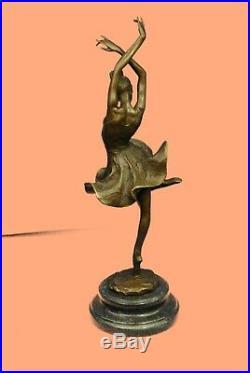 French Bronze Ballet Dancer Statue Degas Ballerina Sculpture Hand Made Figurine