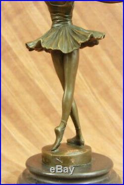 French Bronze Ballet Dancer Statue Milo Ballerina Sculpture Hand Made Sale Decor
