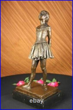 French Bronze Degas Ballerina Girl Statue Figurine Ballet Dancer Hand Made Deal
