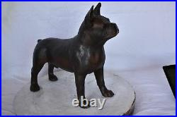 French Bulldog Standing Made of Bronze Statue Size 9L x 20W x 18H