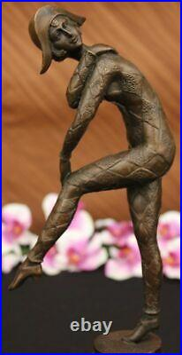 French Hand Made Dancer Signed Chiparus Bronze Sculpture Statue Figurine Hotcast