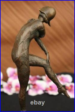 French Hand Made Dancer Signed Chiparus Bronze Sculpture Statue Figurine Lostwax