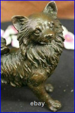 Genuine Bronze Red Fox Original Finish 9 long Austria European Made Statue Gift