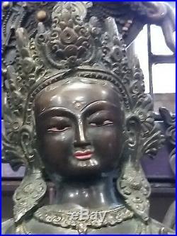 Green tara Bronze Statue 48 cm 10 kg Hand made Nepal 18