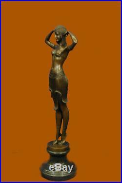 Hand Made 100% Bronze Statue Abstract Home Art Deco Nouveau Figure Gia Sculpture