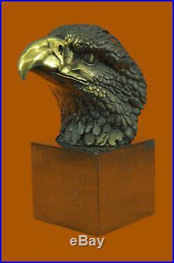 Hand Made AMERICAN BALD EAGLE BRONZE SCULPTURE MILO HAND MADE STATUE HOME DECOR
