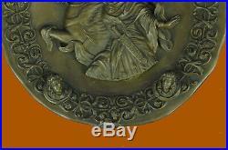 Hand Made Art Bronze Marble Art Statue Greek goddess of Athena warrior Statue UG