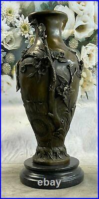 Hand Made Art Nouveau Figural Bronze Nymph Vase Hot Cast Sculpture Statue Deal