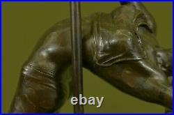 Hand Made BEAUTIFULLY DETAILED DANCER GYMNAST BRONZE STATUE HOT CAST HOME DÉCOR