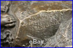 Hand Made BRONZE ZEUS EAGLE GREEK STATUE HANDSOME / BEAUTYS FIGURINE HANDMADE