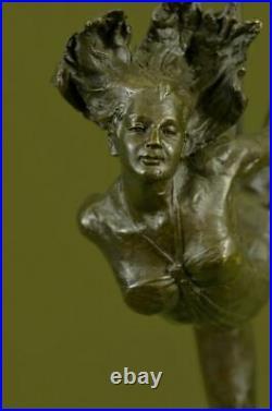 Hand Made Bronze Art Deco Aldo Vitaleh Large Ballerina Statue Figurine Artwork
