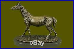 Hand Made Bronze Horse P. J. Mene. Arabian L`Accolade Sculpture Statue Vintage
