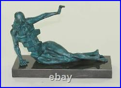 Hand Made Bronze Masterpiece by Salvador Dali Home Office Decoration Statue Art