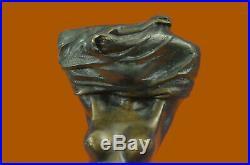 Hand Made Bronze Nude Girl Dancer Sculpture Statue Figure Realism Art Decor Deal