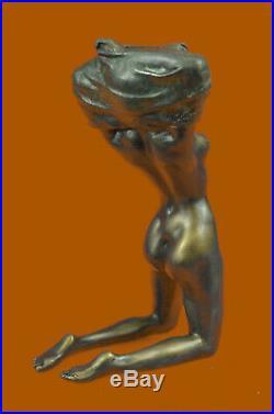 Hand Made Bronze Nude Girl Dancer Sculpture Statue Figure Realism Art Decor Gift
