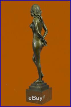 Hand Made Bronze Sculpture Naked Stripper Nude Girl Statue Figurine Lost Wax Art
