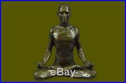 Hand Made Bronze Sculpture, Statue Art Nouveau MAN Yoga Meditation Figurine SALE