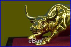 Hand Made Bronze Statue DEAL Hot Cast 24K Edition Stock Market Bull Decor Deal