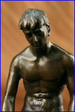 Hand Made Bronze Statue ++ Nude Male ++ Gay Interest ++ VERY RARE ++ Figurine