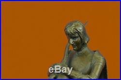 Hand Made Bruno Zach (1891-1935) HotCast Medieval King Battle Bronze Statue Deco