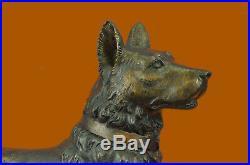 Hand Made DOG Figurine Statue Hand Painted Pure Bronze Gift Pet Lovers Figurine