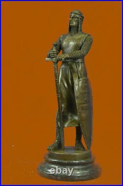 Hand Made Detailed Bronze Masterpiece Roman Warrior Soldier Sculpture Statue Art