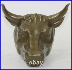 Hand Made Detailed Wall Decor Spanish Bull Matador Genuine Bronze Statue Decor