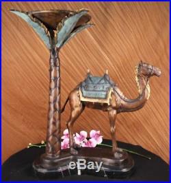 Hand Made Edition Signed Camel Desert Is Statue Figurine Bronze Sculpture Decor
