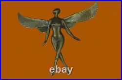 Hand Made Edition Tribute to Salvador Dali Wall Mount Abstract Angel Statue