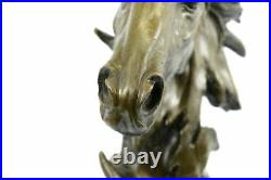 Hand Made European Copper Bronze Belle Handsome Horse Hand Bust Statue Artwork