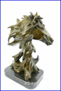Hand Made European Copper Bronze Belle Handsome Horse Hand Bust Statue Figure