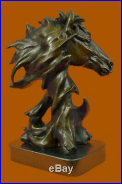 Hand Made European Copper Bronze Belle Handsome Horse Hand Bust Statue Lost Wax