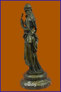 Hand Made Exquisite Maiden Decor Statue Figurine Bronze Sculpture Lost wax Art