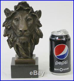 Hand Made Genuine Bronze Museum Quality Wildlife Animal Lion Statue Figurine
