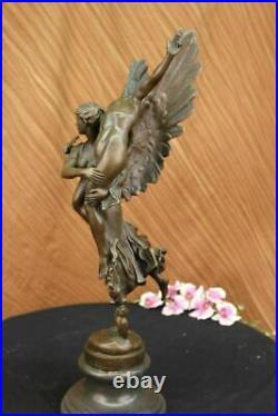 Hand Made Gloria Victis Bronze Sculpture Marble Base Statue Figure Figurine Deal