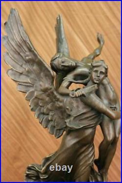 Hand Made Gloria Victis Bronze Sculpture Marble Base Statue Figure Figurine Sale