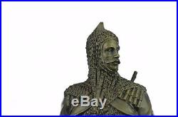 Hand Made HotCast Turkish/Persian Prince with Dagger and Rifle Gun Bronze Statue