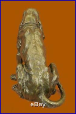 Hand Made Hush Puppy Basset Hound Scent Dog Breeder Bronze Marble Statue Decor