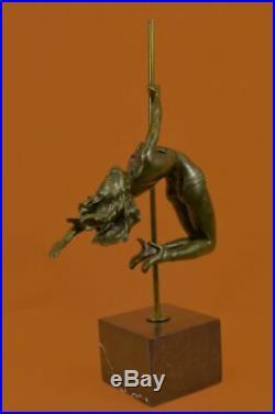 Hand Made MODERN ART BRONZE SCULPTURETHE GYMNASTEUROPEAN STYLE FIGURE STATUE
