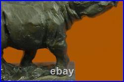 Hand Made Milo Rhino Sculpture Statue Figurine Decor Hot Cast Figurine Art