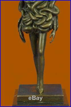 Hand Made Modern Art Designer Bronze Woman Covered with Snake Sculpture Statue