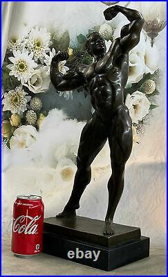 Hand Made Muscular Male Art FIGURINE Bronzed STATUE Man NEW Decoration Statue