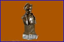Hand Made Napoleon EXnaparte Bust Green Statue Figurine Bronze Sculpture