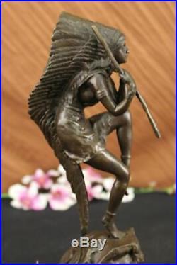 Hand Made Native American Indian Girl Art Statue Figurine Bronze Sculpture Sale