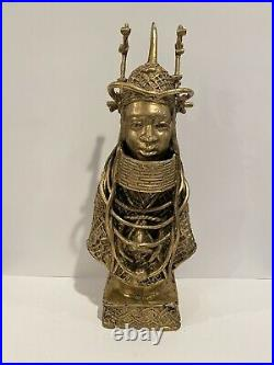 Hand Made Nigerian Bronze Sculpture of Oba (King) Ovonramwen Nogbaisi 18881897